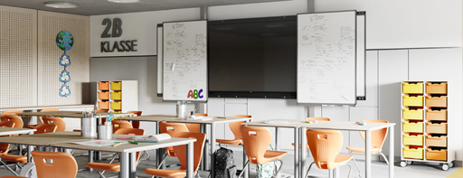 Klassenzimmer-Bestuhlung